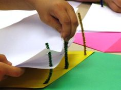 Simple bookbinding techniques for Elementary schoolers.Great for making their own sketchbooks! Art Classroom, School Classroom, Up Book, Book Art, Writer Workshop, Art Lessons Elementary, Art Lesson Plans, Book Binding, Book Making
