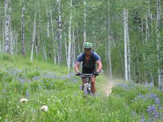Gunnison, CO NEW Silver BFC - Doctor's Park mountain bike trail in Gunnison Crested Butte, Colorado