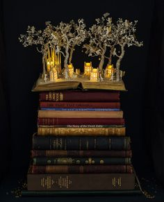 """Su Blackwell is an English artist who really makes books come to life. She takes used books, cuts up and sculpts the flat pages, and turns them into fairytale landscapes, replete with natural beauty, mysterious creatures, and countless adventures for the curious mind. Check them out below! """"Dwelling"""" includes all sorts of fantastic living spaces …"""