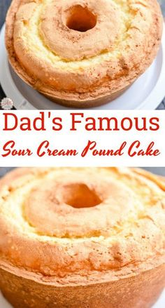 My dad makes the best sour cream pound cake in the world! He's 84 and he'… My dad makes the best sour cream pound cake in the world! He's 84 and he's famous for his pound cake! Just one bite and you'll know why. Food Cakes, Cupcake Cakes, Pound Cake Cupcakes, Giant Cupcakes, Cupcake Toppers, Köstliche Desserts, Dessert Recipes, Easter Recipes, Bolo Cake