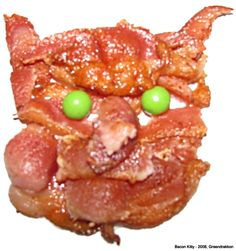 Bacon Cat by greendrakkon on deviantART