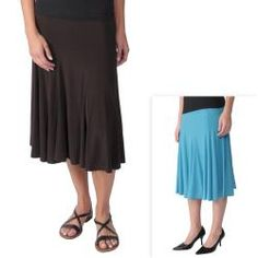 Journee Collection Womens Flowing Knit Flare Skirt $29.99