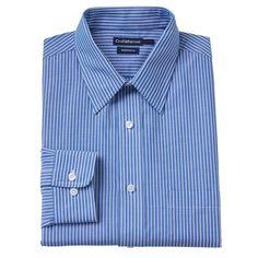 Big & Tall Croft & Barrow Classic-Fit Checked Dress Shirt, Men's, Size: 15.5-32/33, Blue