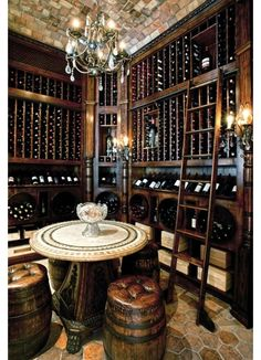 Cool looking wine cellar! - Home and Garden Design Idea's Milano Giorno e Notte - We <3 You! http://www.milanogiornoenotte.com