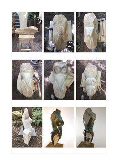 """""""Amira"""": Stein Skulptur aus Serpentin, Simbabwe. Erstellt auf einem Shona Skulptur Workshop im Kölner Zoo. Komplett manuell erstellt. Gewachst. Weitere Skulpturen aus Holz und Stein des Bildhauers aus Köln, z.T. vergoldet mit 24 Karat Blattgold sind auf meiner website zu sehen."""