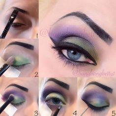 Maleficent eye makeup tutorial | Pictures and video #EyeMakeupGlitter