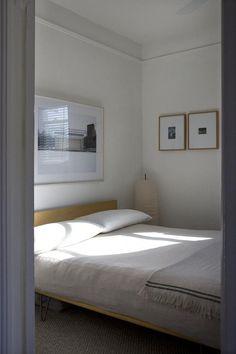 calming bedroom space via nicole franzen.