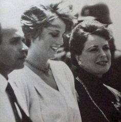 August 15, 1981: Princess Diana being escorted by Anwar Sadat's wife to the Hurghada airport. The Princess would fly to Aberdeen and spend the remainder of her honeymoon in Balmoral