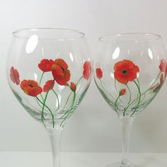 hand painted wine glass candle holders - Google Search