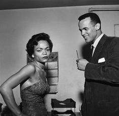 """""""Eartha Kitt and Harry Belafonte hang out."""" – Photograph by:  G. Marshall Wilson via http://lifeandtimes.com/black-excellence/4"""