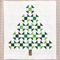 Sew Block Quilt Christmas tree churn dash quilt by carlasisters Christmas Quilting Projects, Christmas Quilt Patterns, Christmas Sewing, Christmas Tree Quilt Block, Christmas Crafts, Christmas Patchwork, Small Quilts, Mini Quilts, Churn Dash Quilt