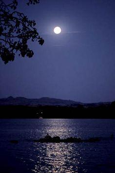 ˚Moon rises over Lake Tana - Ethiopia