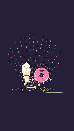 Donut and icecream
