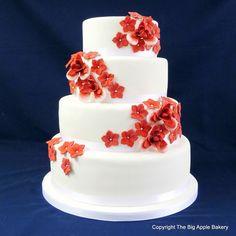 Gateau mariage en pate a sucre