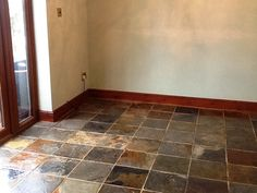 This first photo shows a classic example of a poorly maintained floor, which had faded and lost its colour due to it not being maintained or sealed for many years. In this case, the tiles were Chinese Slate, and were proving very difficult for the property owner to keep clean due to the lack of sealer to protect against dirt and stains. The grout in particular was quite discoloured and of increasing concern to the owner, prompting up the decision to contact me about a restoration job.