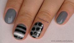 Dots and Stripes by Lenysea - Nail Art Gallery nailartgallery.nailsmag.com by Nails Magazine www.nailsmag.com #nailart
