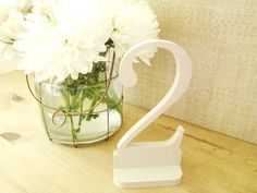 Antique Cream Wedding Table Numbers Wooden by companyfortytwo,