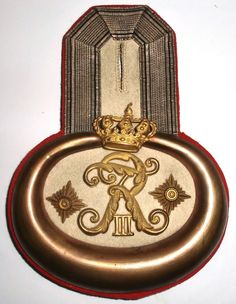 Epaulette PREUSSEN Grenadier-Regiment Kronprinz (1.Ostpreußisches) Nr. 1 SELTEN