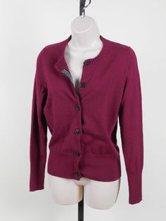 BANANA REPUBLIC $24.99 Free Ship Extra Fine Merino Wool Wear to Work Cardigan Sweater Stripe M #BananaRepublic #MerinowoolCardigan#Workcardigan