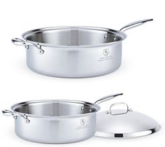 Hammer Stahl 8-Quart Family Saute Pan with Cover