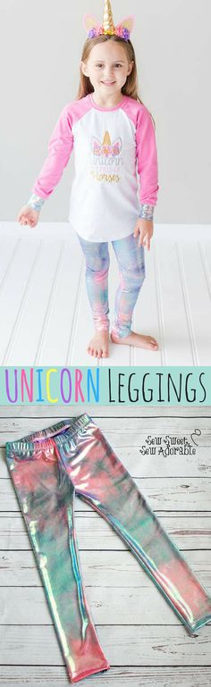 So super cute! Toddler Girl Style, Toddler Girl Outfits, Kids Outfits, Unicorn Birthday, Unicorn Party, Unicorn Leggings, Girly Things, Girly Stuff, New Baby Gifts