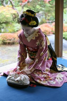 Naosome as a senior maiko in November, by WATASAN