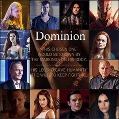 Dominion(Syfy) SO UPSET THEY CANCELLED THIS AMAZING SHOW.  SYFY HAS BEEN CRAPPY FOR THE LONGEST AND THEY JUST CONTINUE TO DISSAPOINT SMH