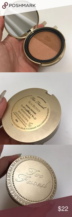 TOO FACED SUN BUNNY BRONZER COMPACT POWDER Swatched before Too Faced Makeup