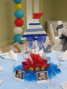 Sailor Baby Shower Baby Shower Party Ideas | Photo 3 of 9 | Catch My Party