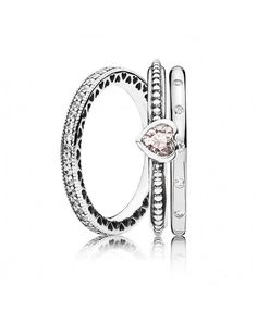 ed834b3e4 Pandora Hearts Stacking Rings Sale Pandora Jewelry, Pandora Rings Rose, Pandora  Rings Stacked,