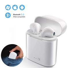 TWS Wireless Earbuds Sport Bluetooth Earphone With Charging Box Mic Stereo Android Headset For All Smart Phone Internet Bar, Huawei Phones, Bluetooth Headphones, Headset, Consumer Electronics, Smartphone, Best Deals, Android, Sport