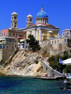 Church of Saint Nicholas Syros island, Cyclades, Greece Beautiful Places In The World, Life Is Beautiful, Greece Pictures, Greek Beauty, Island Life, Greek Islands, Amazing Destinations, Wonders Of The World, Places To Travel
