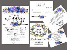 This item is unavailable Printable Wedding Invitations, Invitation Set, Wedding Stationery, Invite, Wedding Suite, Printables, Templates, Diy, Role Models