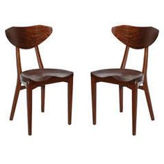Christensen & Larsen Mahogany Dining Chairs, Set of Six
