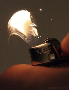 FIRE! // macro close-ups of bic lighter sparks lit by no pattern chuck anderson #photo #flame