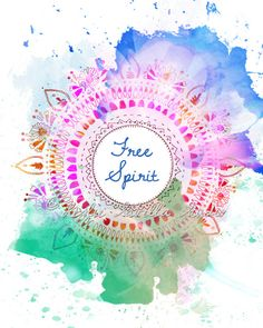 Free Spirit Circle Art Print  8x10 Metallic Print by LeslieSabella, $20.00