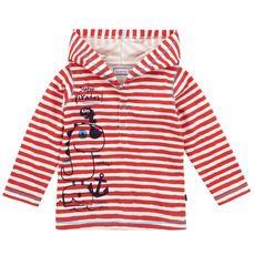 Souris Mini - Tee-shirt rayé à capuche en jersey de coton - 74425