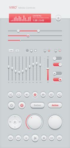 Viro Media Controls - Free UI Kit