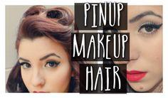 Pin Up Makeup and NO HEAT Vintage Hair