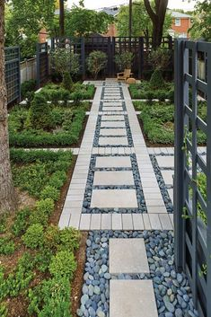 Tie together different outdoor spaces in a clean, uncluttered fashion. Pin this now! Concrete Patios, Patio Slabs, Paver Walkway, Patio Stone, Landscape Design, Garden Design, Landscape Architecture, Patio Diy, Front Yard Decor