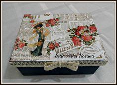 Caixa de costura Dama | Bellas Artes | Elo7