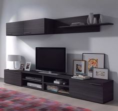 mueble modular moderno rack panel tv lcd melamina