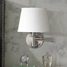 Kenroy Sheppard Brushed Steel Plug-In Swing Arm Wall Lamp - #R8690 | Lamps Plus
