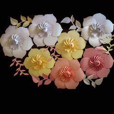 Gorgeous paper flower backdrop!