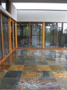 Always liked a slate tile floor.
