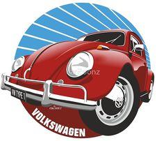 Sixties VW Beetle red