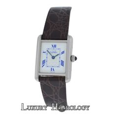 34 best cartier tank watch images on Pinterest   Tank watch  Cartier     Authentic Ladies Must de Cartier Tank 2416 Quartz Sterling Silver 22MM Watch