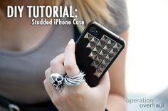 DIY Tutorial: Studded iPhone Case » Operation Overhaul