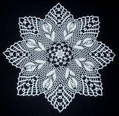 "Képtalálat a következőre: ""crochet tulip doily pattern""Lace napkins - Marianna Lara - Álbuns da web do Picasachiecrochets uploaded this image to See the album on Photobucket.Chie Crochets (Knits too! Crochet Dollies, Crochet Lace Edging, Crochet Stars, Crochet Borders, Thread Crochet, Filet Crochet, Hand Crochet, Crochet Stitches, Easter Crochet Patterns"
