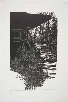Frank C. Eckmair Turn of the Years Woodcut 1969